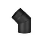 Koleno segmentové 45° 150 (1,5) černé