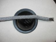 Krbová háčkovaná šňůra šedá  10 mm
